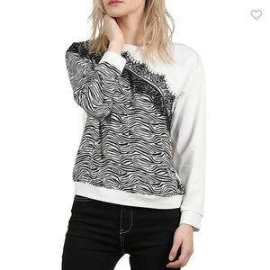 NWT Molly Bracken Zebra Sweatshirt